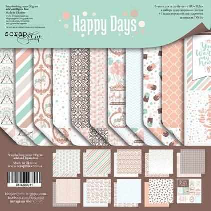 Zestaw papierów do tworzenia kartek i scrapbookingu - Scrap Mir - Szczęśliwe Dni