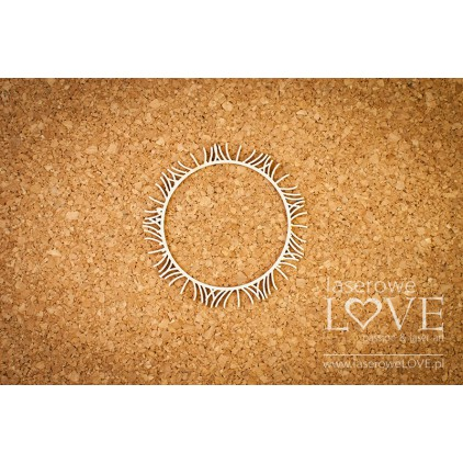 Laserowe LOVE - tekturka ramka z dmuchawcami - Laiteron