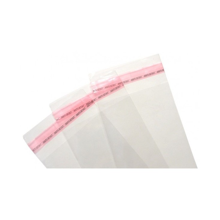Foil bags with adhesive tape - 12x17cm - 100 pcs