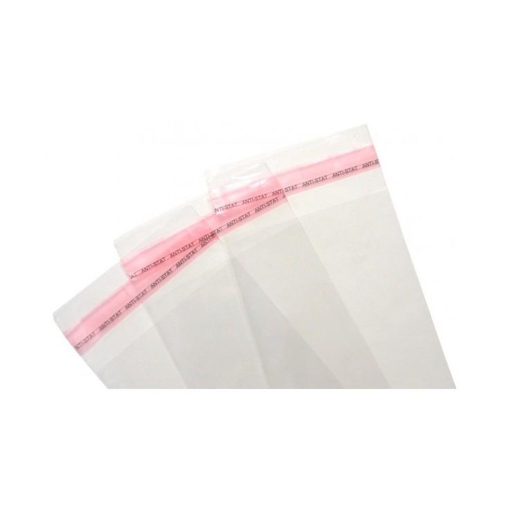 Woreczki foliowe z taśmą klejącą - 12x25cm - 100 sztuk