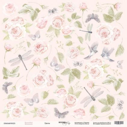 Papier do tworzenia kartek i scrapbookingu - Scrap Mir - Piękne dni - Kwiaty