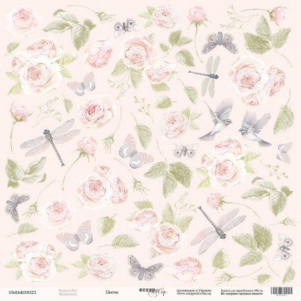 Scrapbooking paper - Scrap Mir - Beautiful moments - Flowers