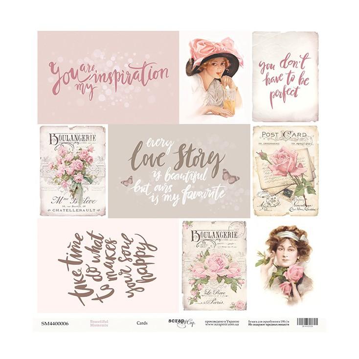 Scrapbooking paper - Scrap Mir - Beautiful moments - Cards