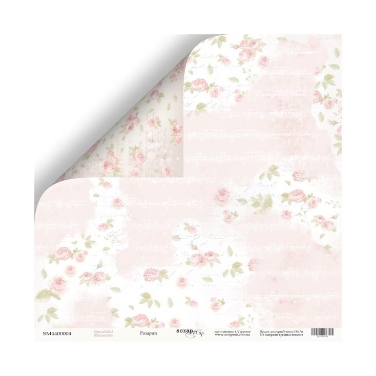 Papier do tworzenia kartek i scrapbookingu - Scrap Mir - Piękne dni - Ogród różany