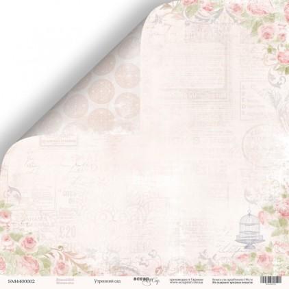 Scrapbooking paper - Scrap Mir - Beautiful moments - Morning garden