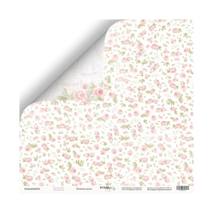 Papier do tworzenia kartek i scrapbookingu - Scrap Mir - Piękne dni - Delikatne Róże