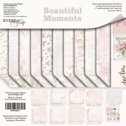 Zestaw papierów do tworzenia kartek i scrapbookingu - Scrap Mir - Piękne Chwile