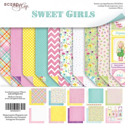 Set of scrapbooking papers - Scrap Mir - Sweet Girls