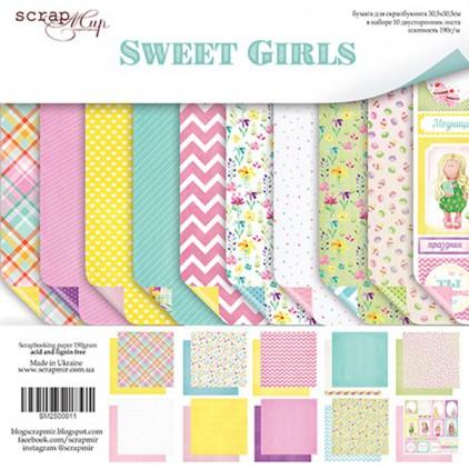 Zestaw papierów do tworzenia kartek i scrapbookingu - Scrap Mir - Sweet Girls
