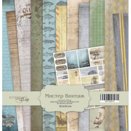 Zestaw papierów do tworzenia kartek i scrapbookingu - Scrap Mir - Pan Vintage