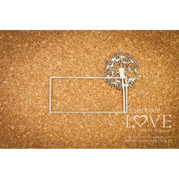 Laserowe LOVE - tekturka ramka dmuchawiec - Laiteron