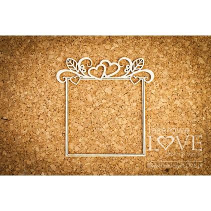 Cardboard frame Herbace square- LA16081222 - Laserowe LOVE