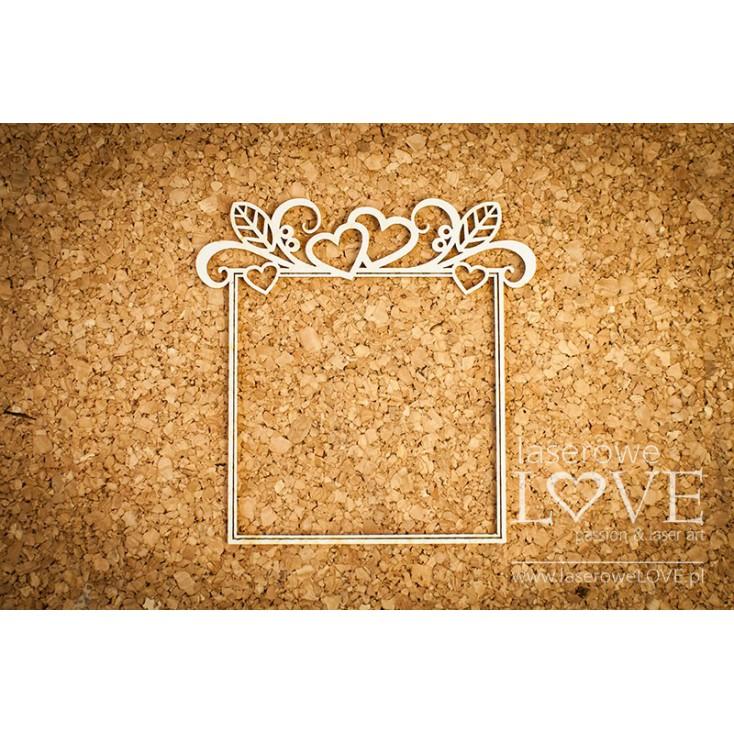 Laser LOVE - cardboard frame Herbace square