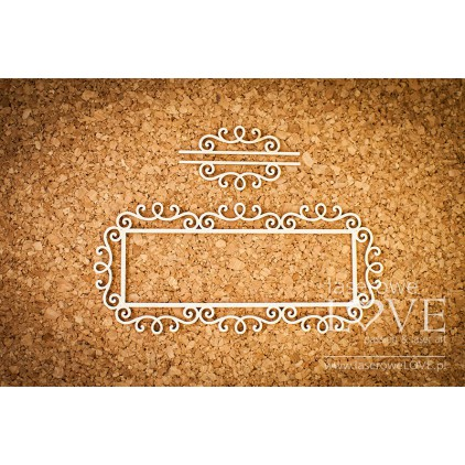 Cardboard - rectangular frame Paroles knight ornaments- LA 16072418 - Laserowe LOVE