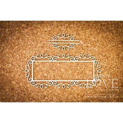 Tekturka ramka prostokątna Paroles ornamenty rycerskie - LA 16072418 - Laserowe LOVE
