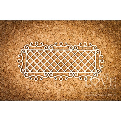 Cardboard rectangular frame Paroles knight ornaments grid- LA16072419 - Laserowe LOVE