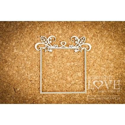 Laser LOVE - cardboard Christmas frame square Herbace