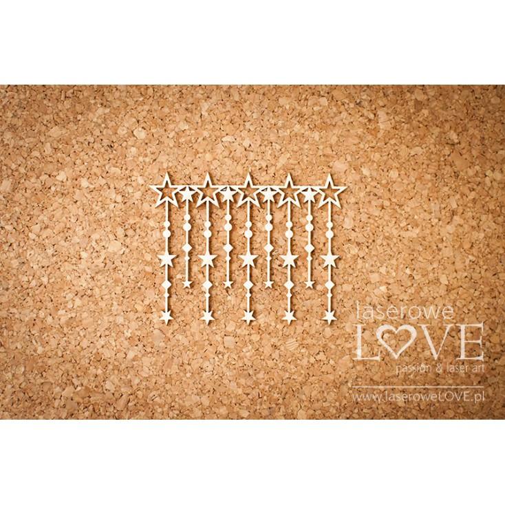Laserowe LOVE - tekturka sznur gwiazd Le Astre