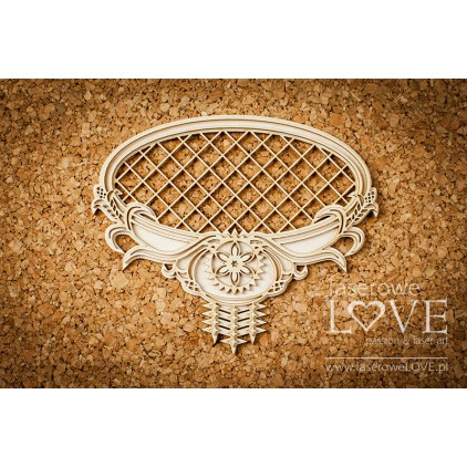 Laser LOVE - cardboard Oval frame with highland mesh ornaments- Tatra life