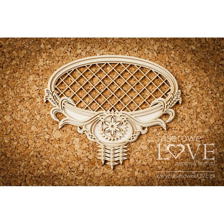 Laser LOVE - cardboard Oval frame with highland mesh ornaments- Tatra life
