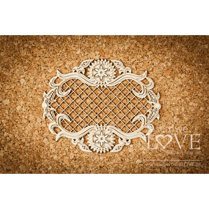Laser LOVE - cardboard frame with highlander mesh ornaments - Tatra life