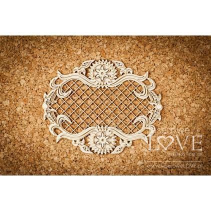 Laser LOVE - cardboard frame with highlander mesh ornaments - Tatra life