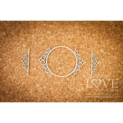 Laser LOVE - cardboard round frame Paroles noble ornaments