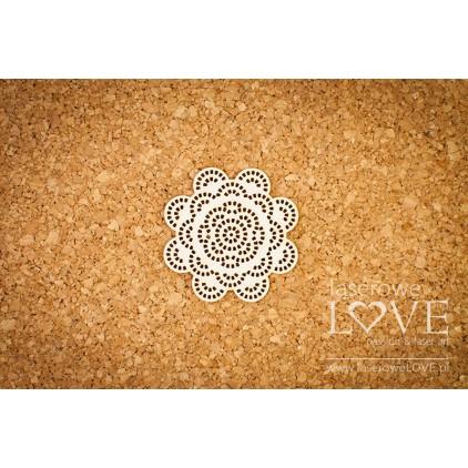 Laser LOVE - cardboard round napkin Kalina - Dentelle flower