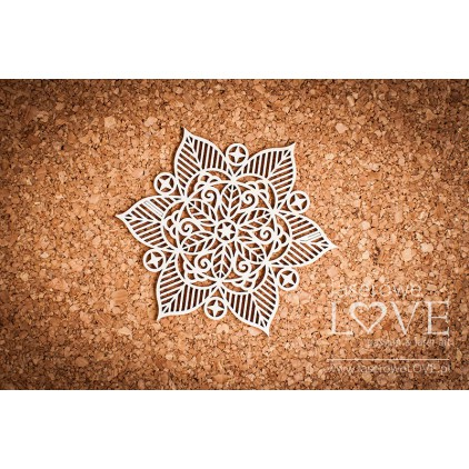 Laser LOVE - cardboard  rosette Darpana Indiana