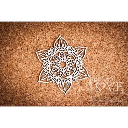 Laser LOVE - cardboard rosette Lalima Indiana