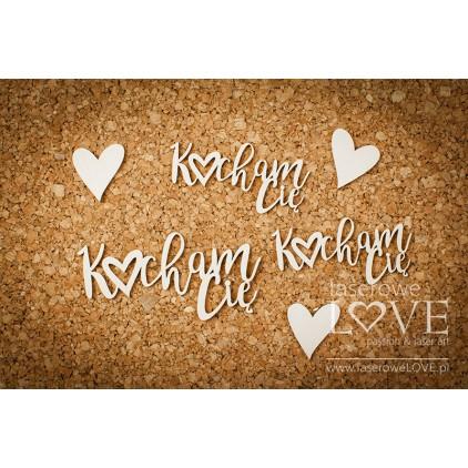 Laser LOVE - cardboard inscription Kocham Cię - Simple Wedding