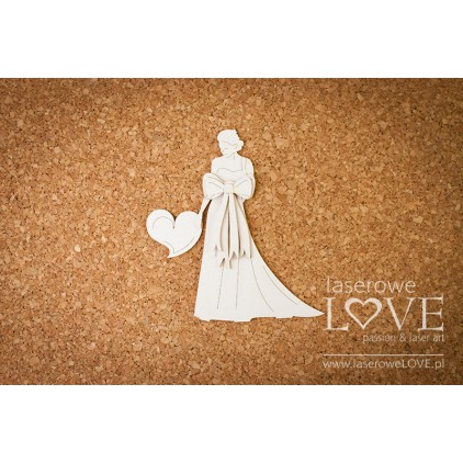 Laser LOVE - cardboard Lady with bows