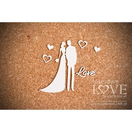 Cardboard An elegant couple- LA16070702 - Laserowe LOVE