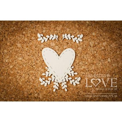 Laserowe LOVE - tekturka serce w krzakach - Simple Wedding