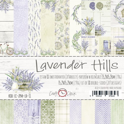 Pad of scrapbooking papers - Craft O Clock - Lavender Hills