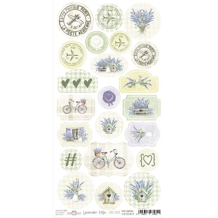 Craft O Clock - Lavender Hills- die-cuts set
