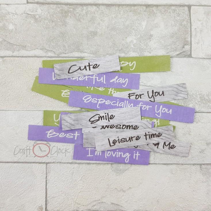 Craft O Clock -Lavender Hills- napisy die cuts