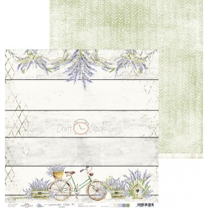 Scrapbooking paper - Craft O Clock - Lavender Hills - 01