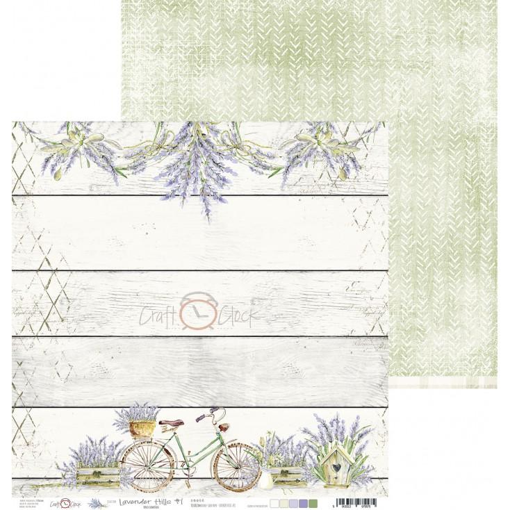 Papier do tworzenia kartek i scrapbookingu - Craft O Clock - Lavender Hills - 01