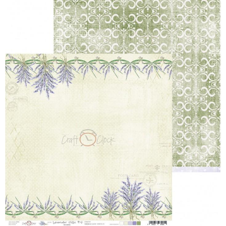Scrapbooking paper - Craft O Clock - Lavender Hills - 04