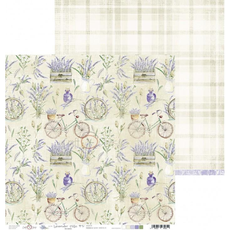 Scrapbooking paper - Craft O Clock - Lavender Hills - 05
