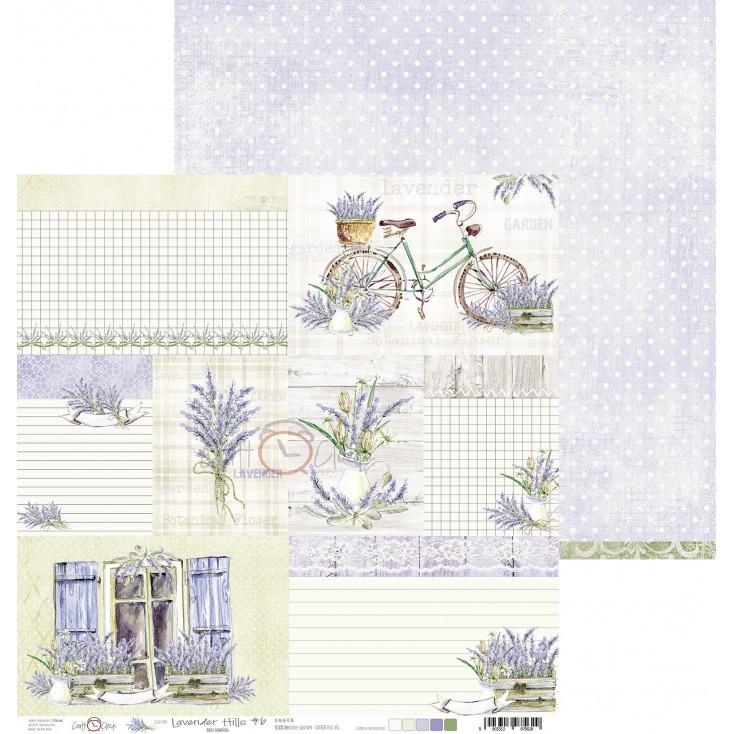 Papier do tworzenia kartek i scrapbookingu - Craft O Clock - Lavender Hills - 06