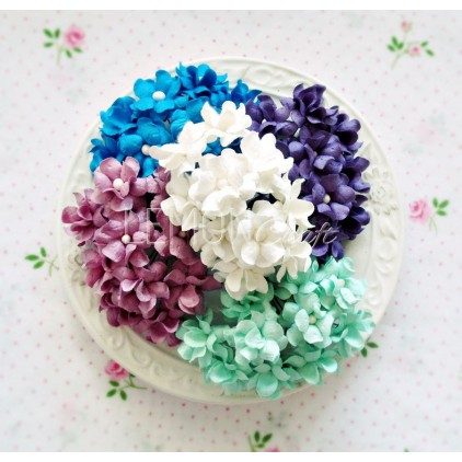 Paper flower set - mix 5 - 50 pcs