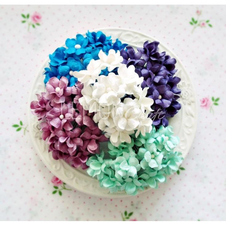 Paper flower set - mix 5 - 25 pcs