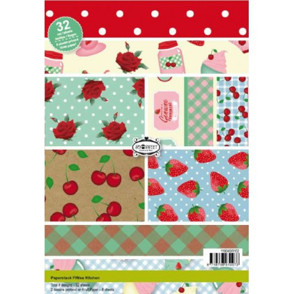 Pad of scrapbooking papers - Fifties Kitchen