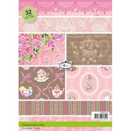 Pad of scrapbooking papers - Tea Roses
