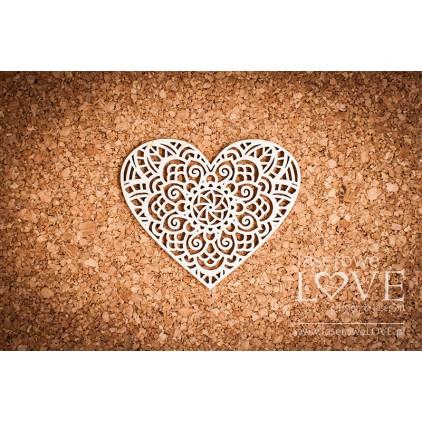 Laserowe LOVE - tekturka Serce Indiana