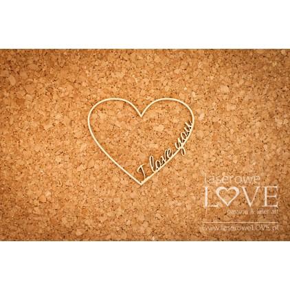 Laserowe LOVE - tekturka Ramka serce I love you
