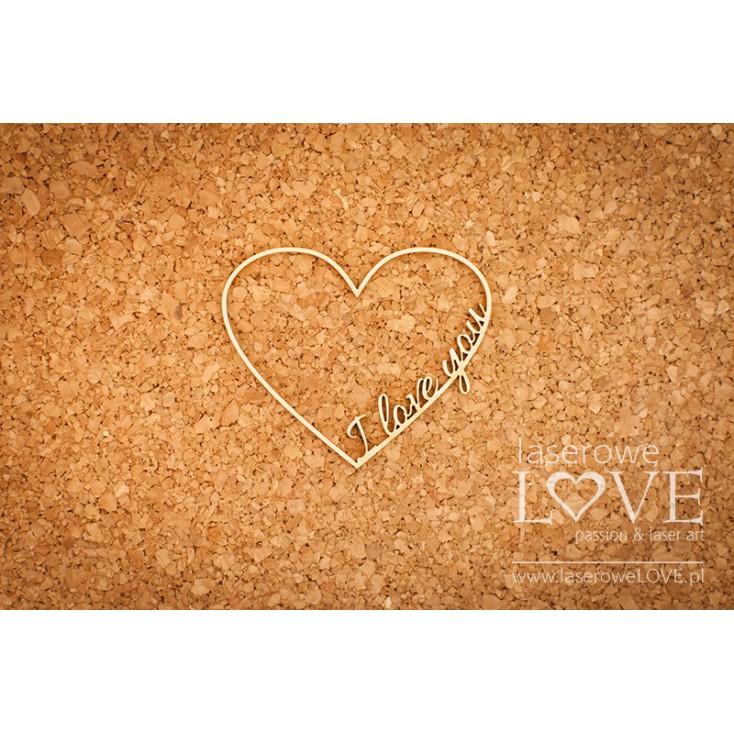 Laser LOVE - cardboard frame heart I love you