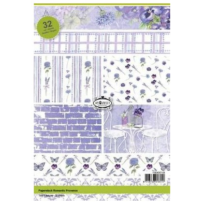 Pad of scrapbooking papers - Romantic Provence